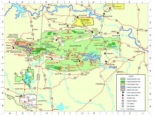 Ouachita Forest Recreation Map photo