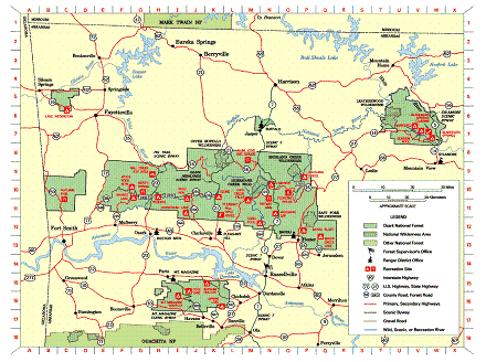 Ozark Forest Recreation Map photo