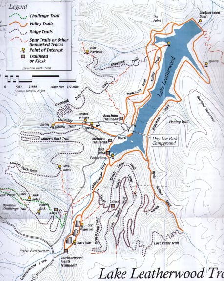 Lake Leatherwood Trail Map photo