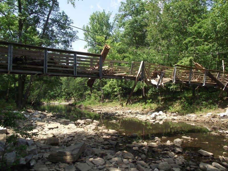 Devil's Den Flood Damage Photos June 2011 photo
