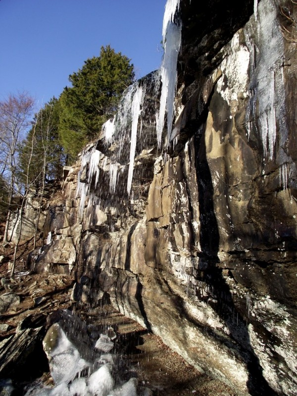 Mount Nebo: Waterfall Photos with Icicles photo