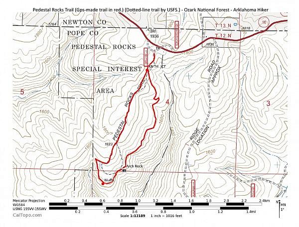Pedestal Rocks Loop Trail (Ozark Forest) - 2mi photo