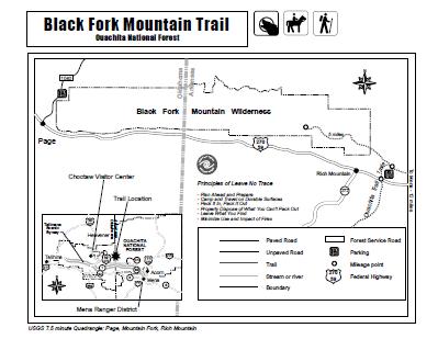 Black Fork Mountain Trail (Ouachita Forest) - 11mi (o&b) photo
