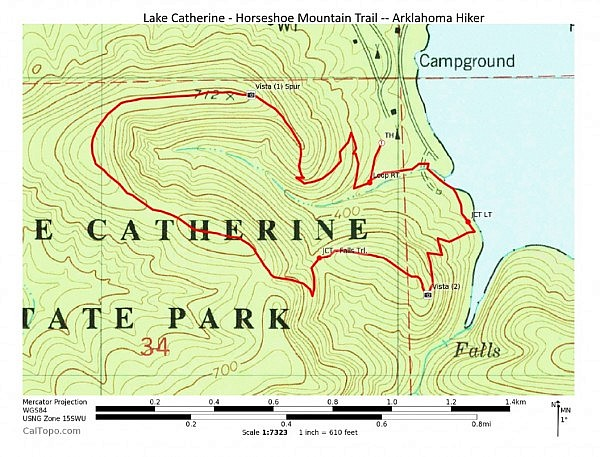 Lake Catherine: Horseshoe Mountain Trail – 3 mi photo