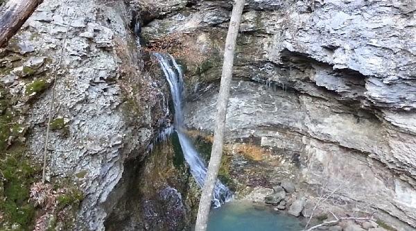Lost Valley Trail - Eden Falls (Buffalo River) Video Dec. 2013 photo