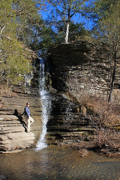 Intersection Falls Near Falling Water Creek (Ozark Forest) photo