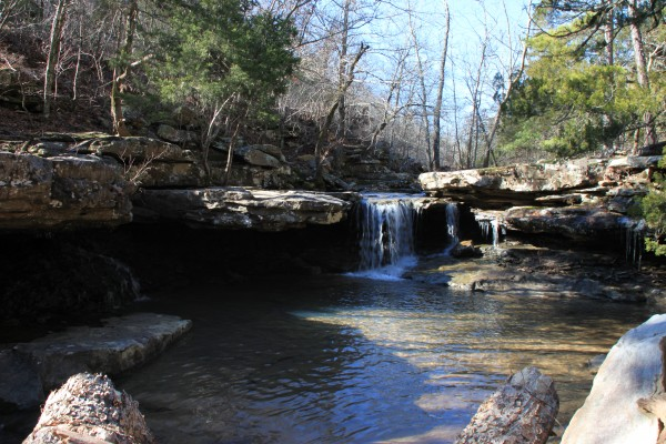 Waterfall Area Near Falling Water Falls (Ozark Forest) photo