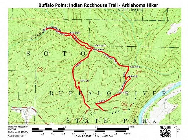 Buffalo Point: Indian Rockhouse Trail - 3mi photo