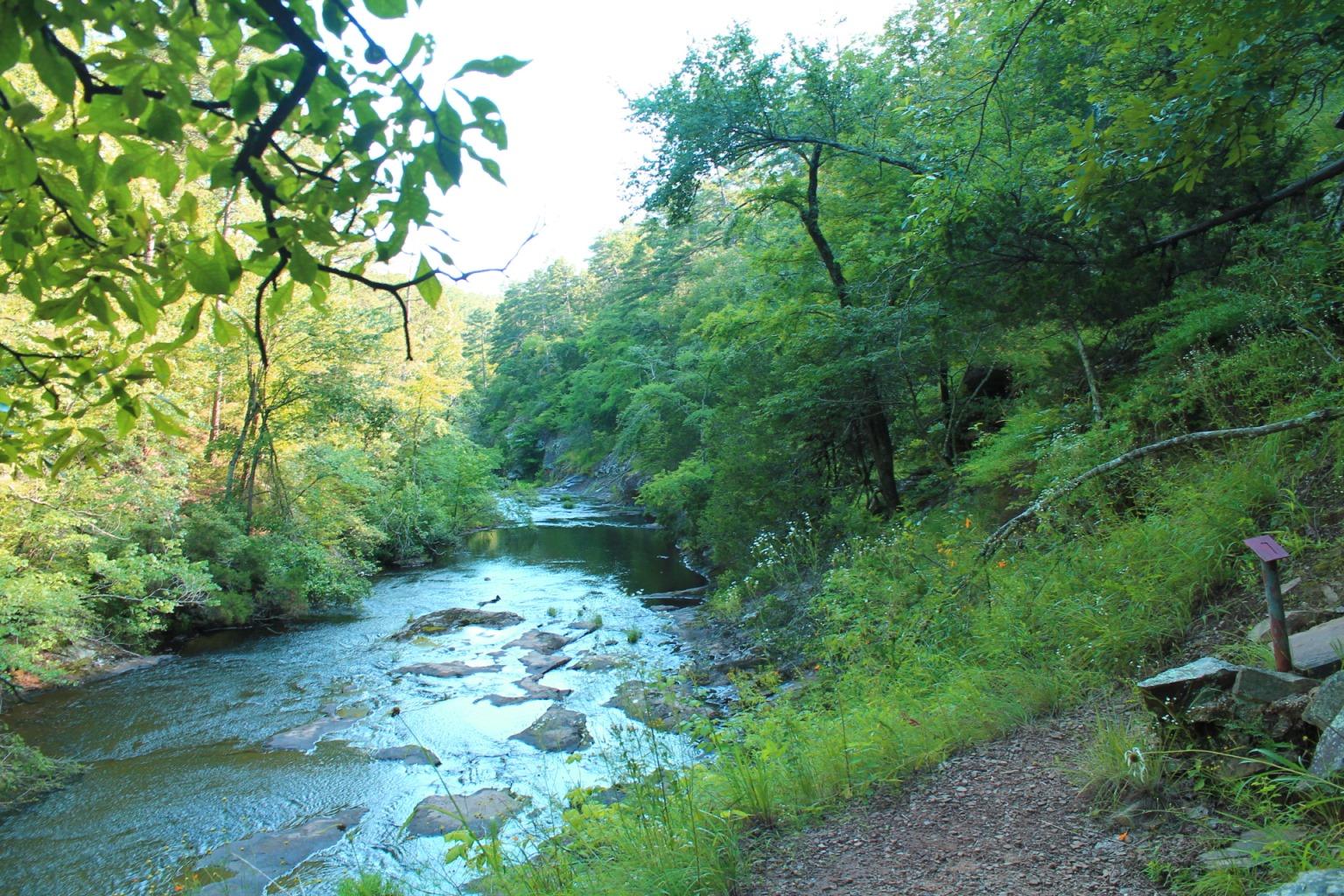 petit jean cedar creek trail 1 mi arklahoma hiker