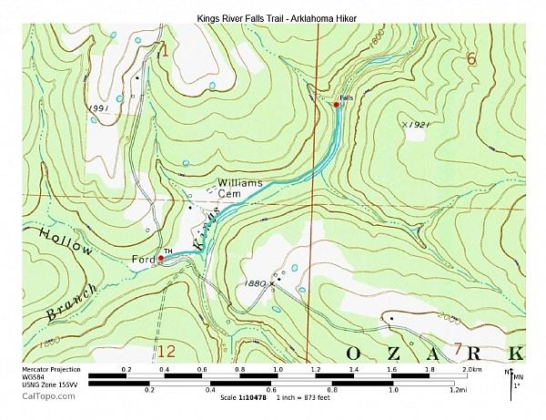 Kings River Falls Trail  2 Mi Oampb  Arklahoma Hiker