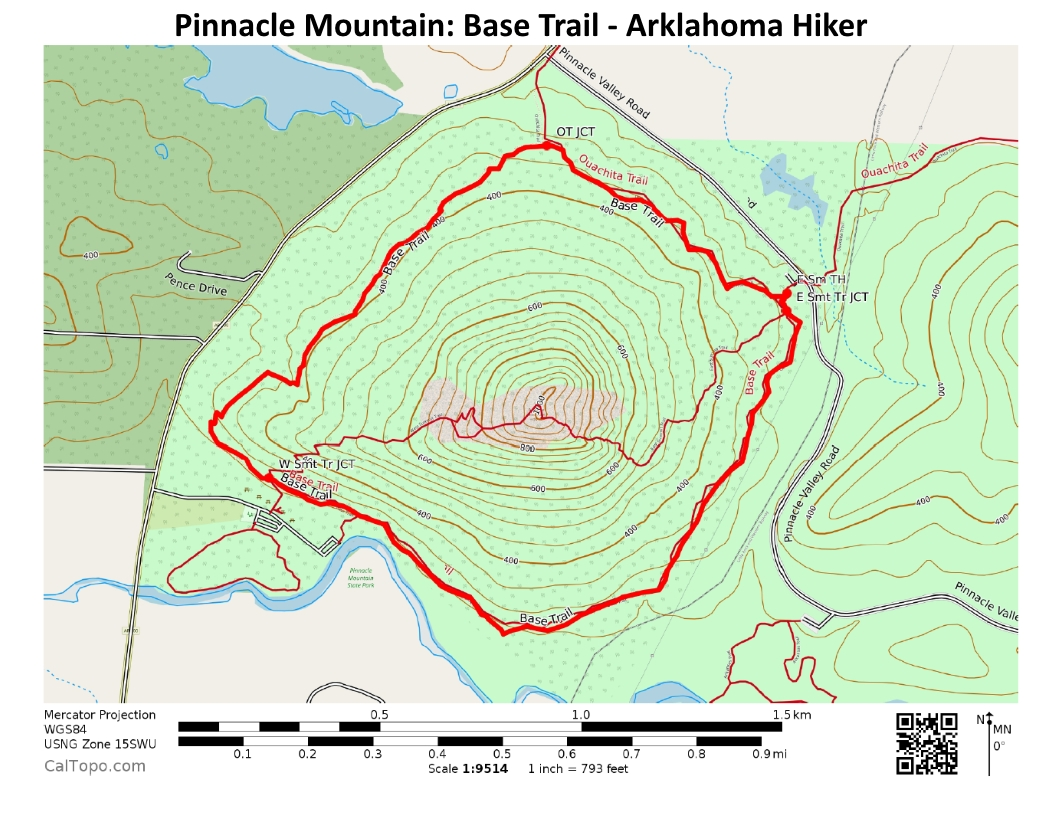 Pinnacle Mountain Base Trail 3 Mi Arklahoma Hiker