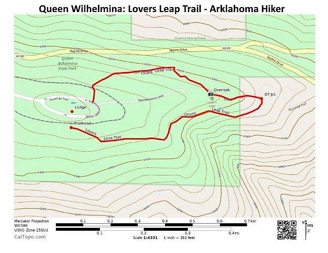 Queen Wilhelmina: Lovers Leap Trail - 1mi photo