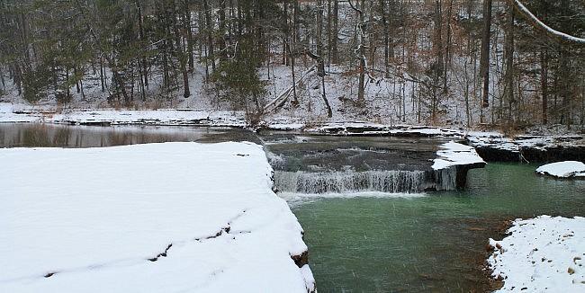 Haw Creek Falls Winter Pics (Ozark Forest) photo