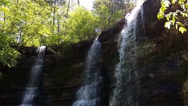 Twin Falls/Triple Falls (Camp Orr) Video (Buffalo River) photo