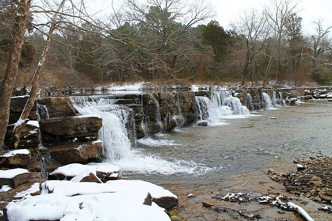 Natural Dam Falls Winter Pics (Ozark Forest) photo