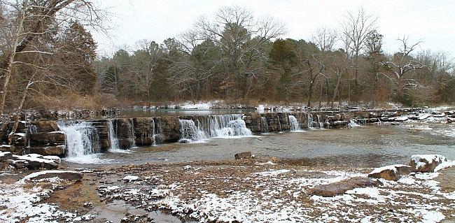Natural Dam Falls Winter Pics (Ozark Forest) photo