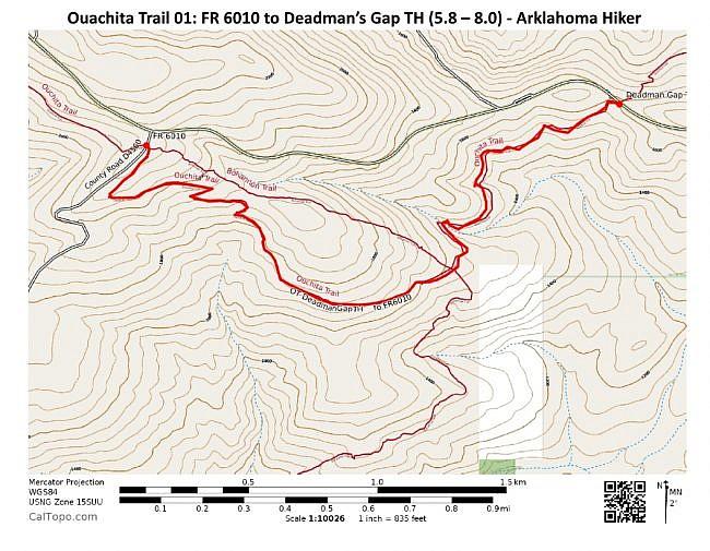 Ouachita Trail 01: FR 6010 to Deadman's Gap TH (5.8 - 8.0) photo