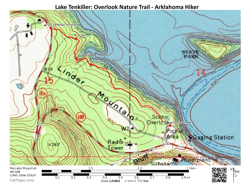 maps lake tenkiller overlook nature trail –  mi (ob) photo. lake tenkiller overlook nature trail –  mi (ob)  arklahoma hiker