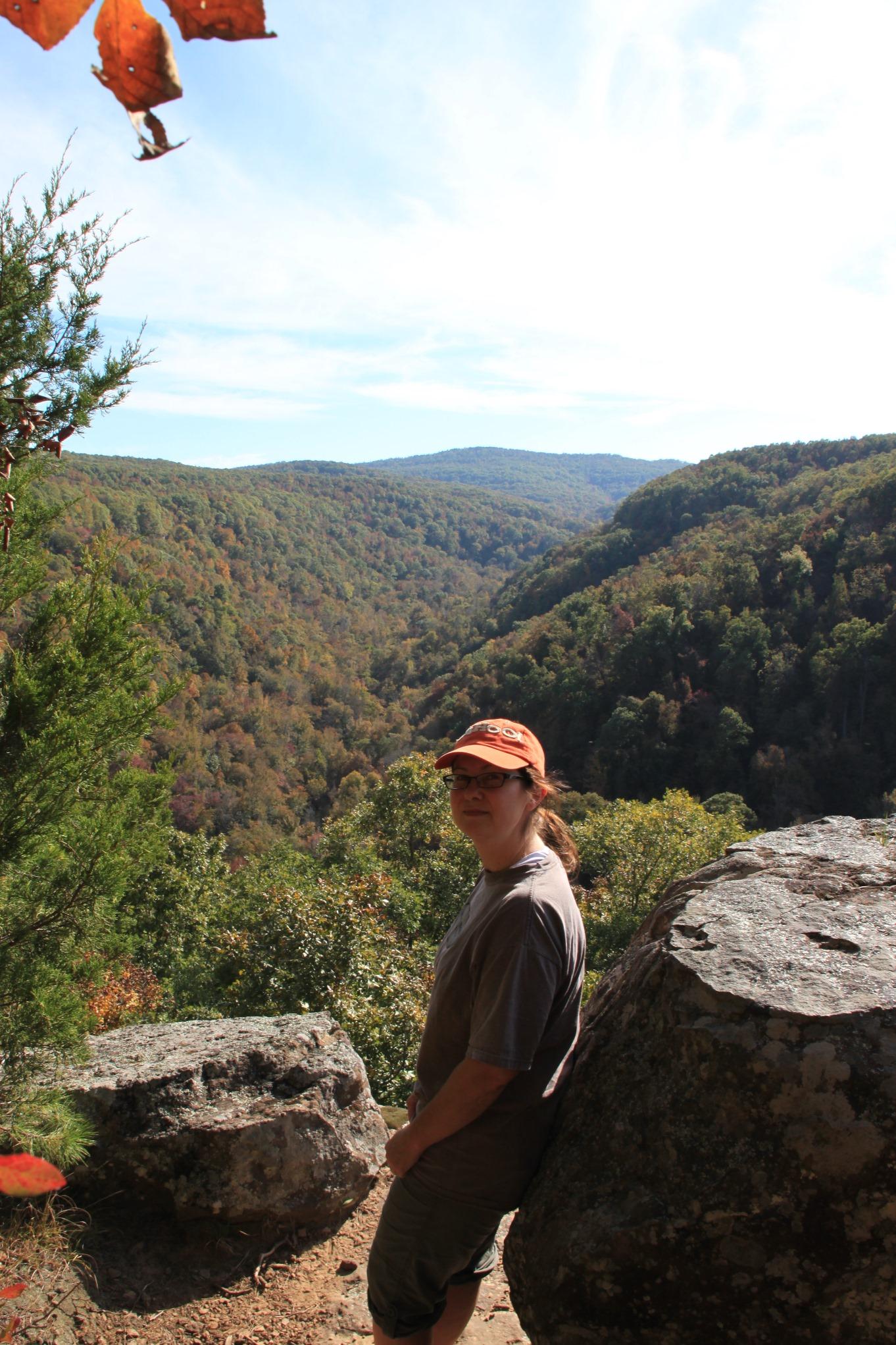 Hawksbill Crag Whitaker Point Trail Ozark Forest 3 mi ob