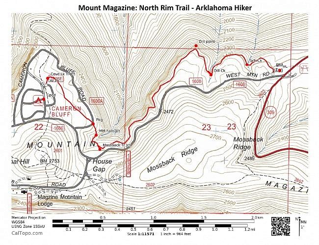 Mount Magazine: North Rim Trail - 5mi (o&b) photo