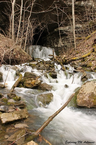 Wolf Creek Cave Falls (via Big Creek Cave Falls Hike) (Ozark Forest) photo