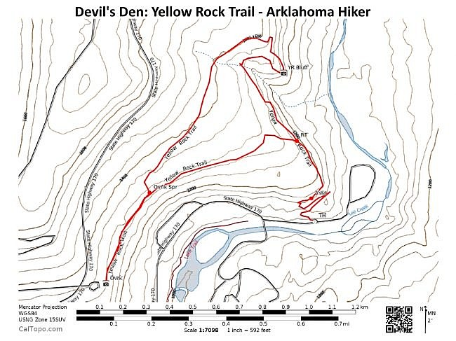 Devils Den Arkansas Map.Devil S Den Yellow Rock Trail 3 Mi Arklahoma Hiker