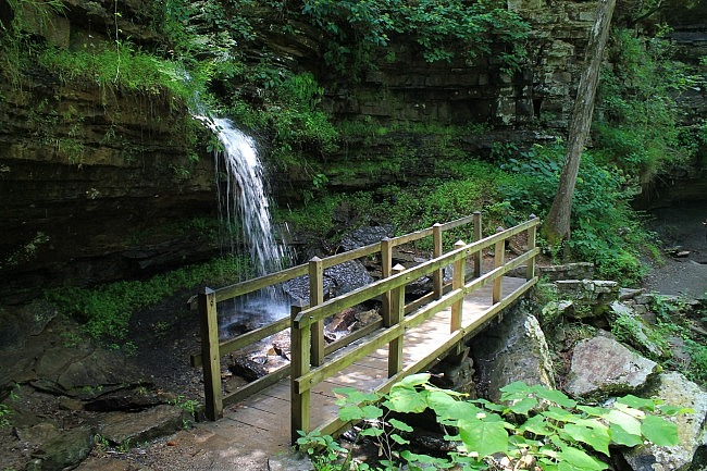 Devil's Den Self-Guided Trail + Twin Falls - 1 mi photo