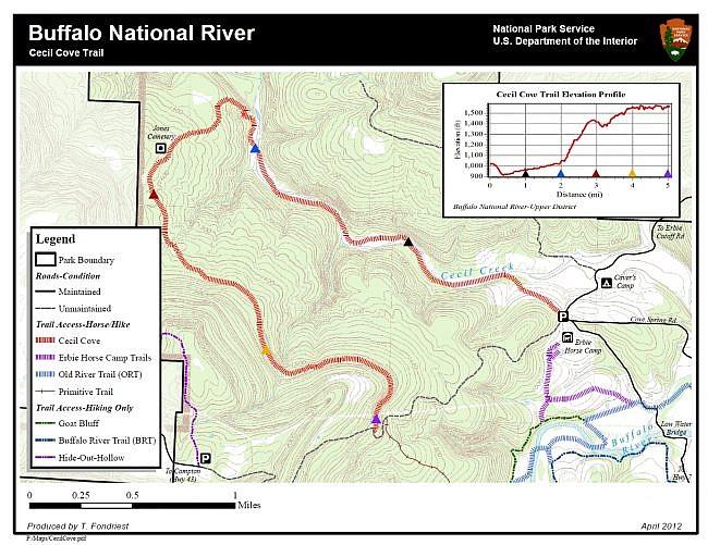 Cecil Cove Trail Loop (Buffalo River) - 6mi photo