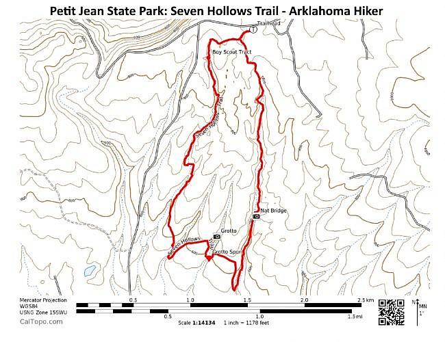 Petit Jean: Seven Hollows Trail – 4mi photo