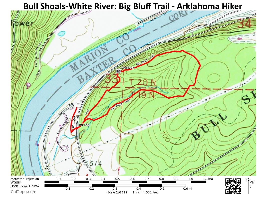Bull Shoals: Big Bluff Trail - 2 mi | Arklahoma Hiker