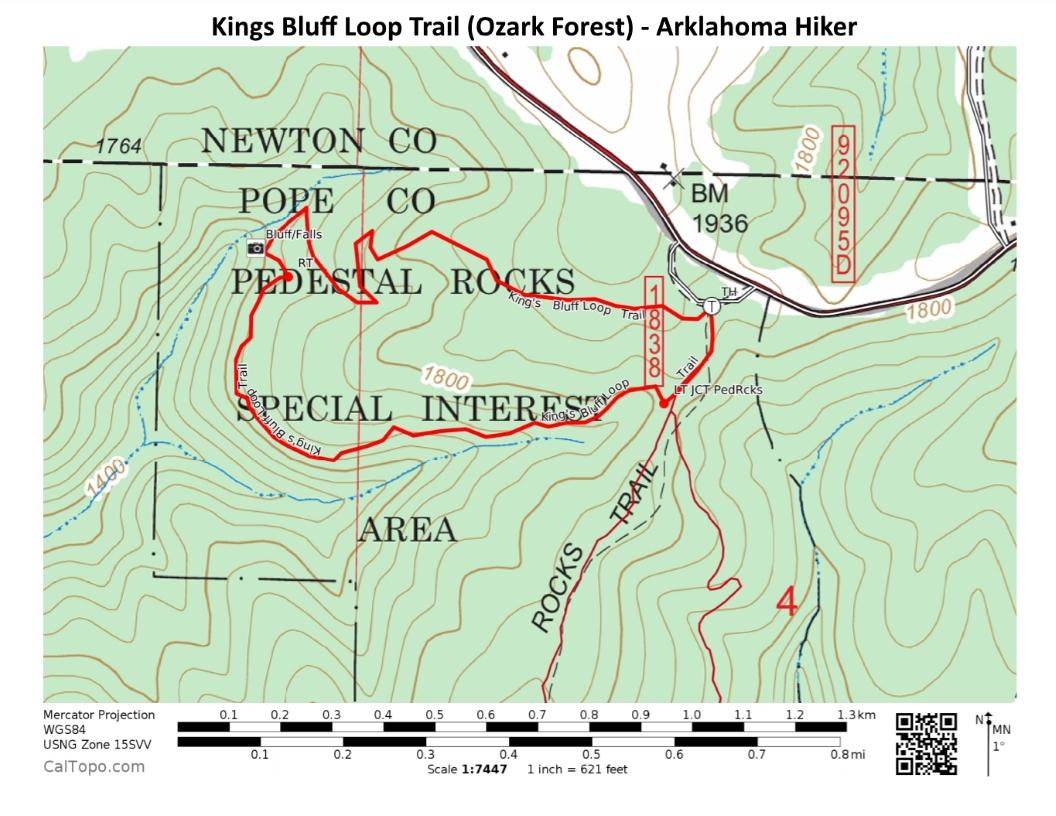 Kings Bluff Loop Trail + Kings Bluff Falls (Ozark Forest) - 2 mi ...