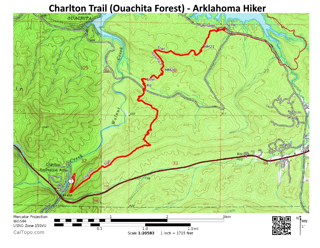 Charlton Trail (Ouachita Forest) - 8 mi (o&b) | Arklahoma Hiker